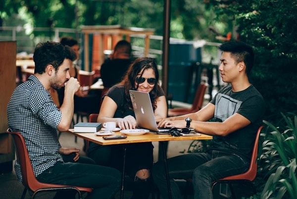 多国籍な留学生