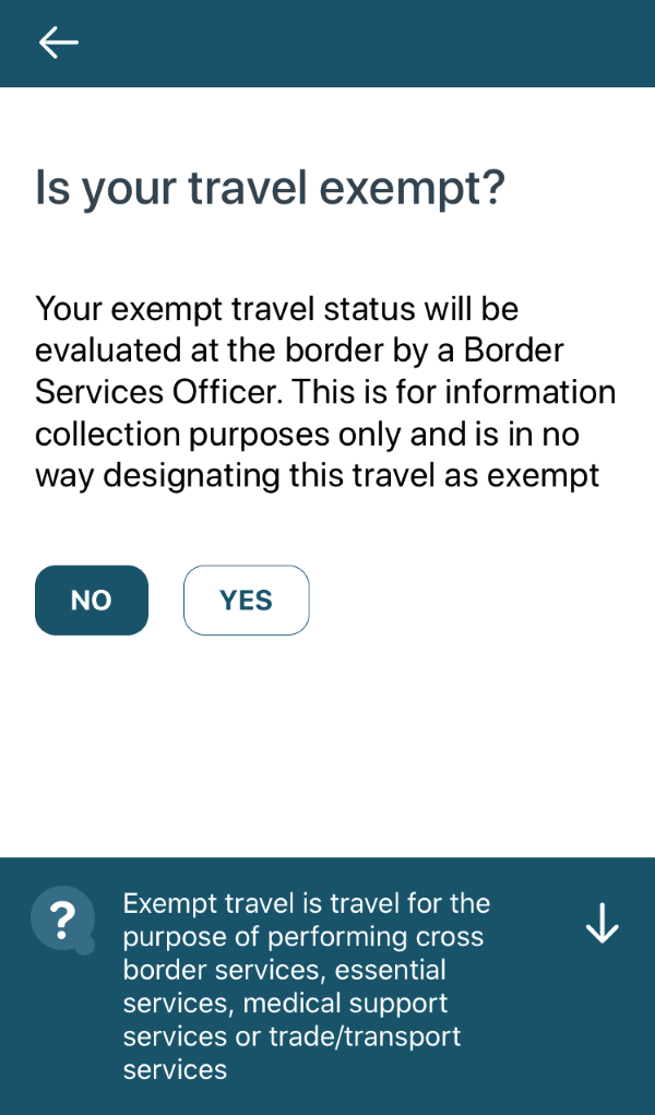 Is your travel exempt?
