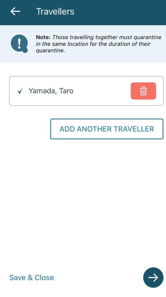 ArriveCAN Traveller