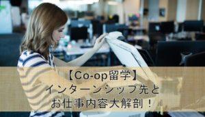 【Co-op留学】インターンシップ先とお仕事内容大解剖!